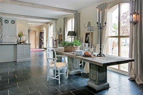 Nostalgische Keukenvloer : keukenvloer Belgisch hardsteen Abdij 40x60x2 cm gezoet / verouderd
