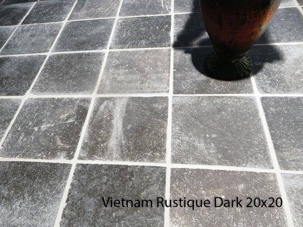 natuursteen plavuis Vietnamees hardsteen Dark Rustic 20x20 cm ...